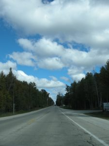 Clouds and Road, Door County. Copyright 2015 by MDMikus