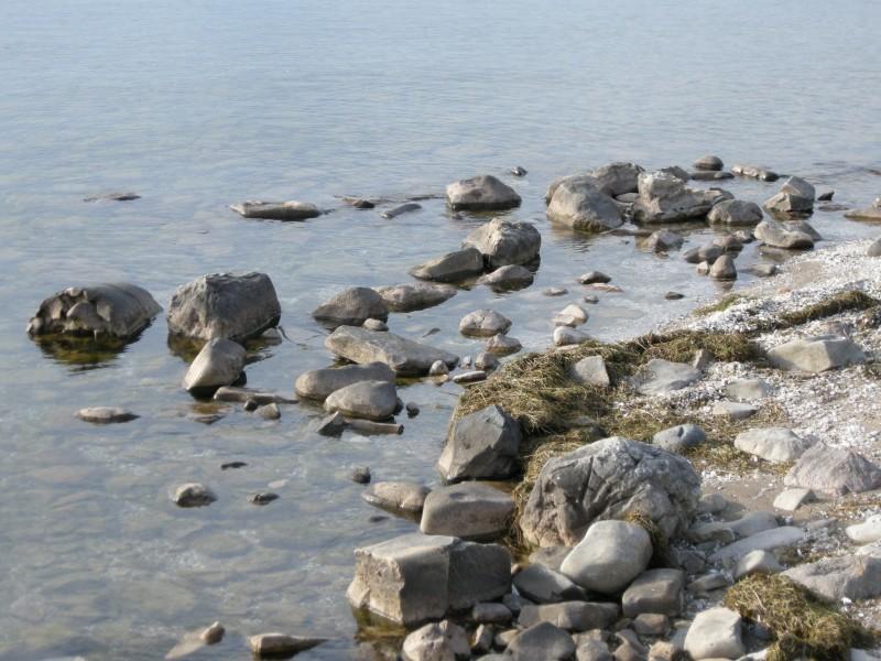 Shore Rocks in Calm Water MDMikus Copyright 2013