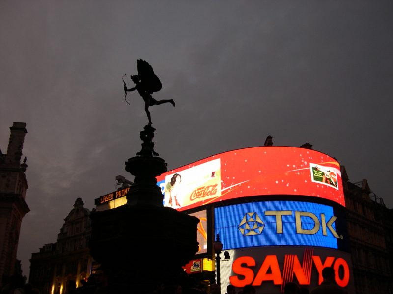Piccadilly Circus at Night, London MDMikus Copyright 2005